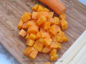 cenoura cubos